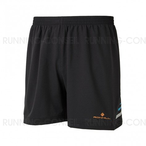 "RONHILL Short Stride 5"" Homme | All black"
