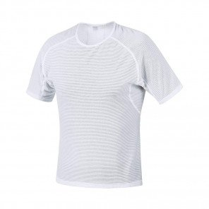 GORE® BASE LAYER MAILLOT MANCHES COURTES HOMME   WHITE
