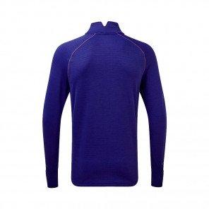RONHILL Tee-shirt 1/2 Zip Stride Matrix Homme | Deep sea Card orange