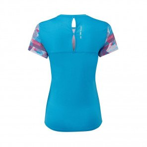 RONHILL T-SHIRT MANCHE COURTE REVIVE STRIDE Femme | SKYBLUE/CHERRYADE