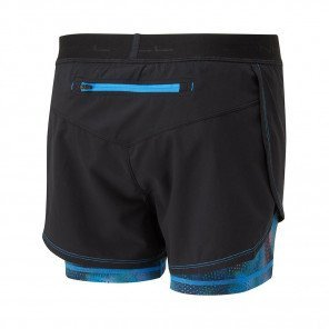 RONHILL SHORT MOMENTUM TWIN Femme | BLACK/SKY BLUE