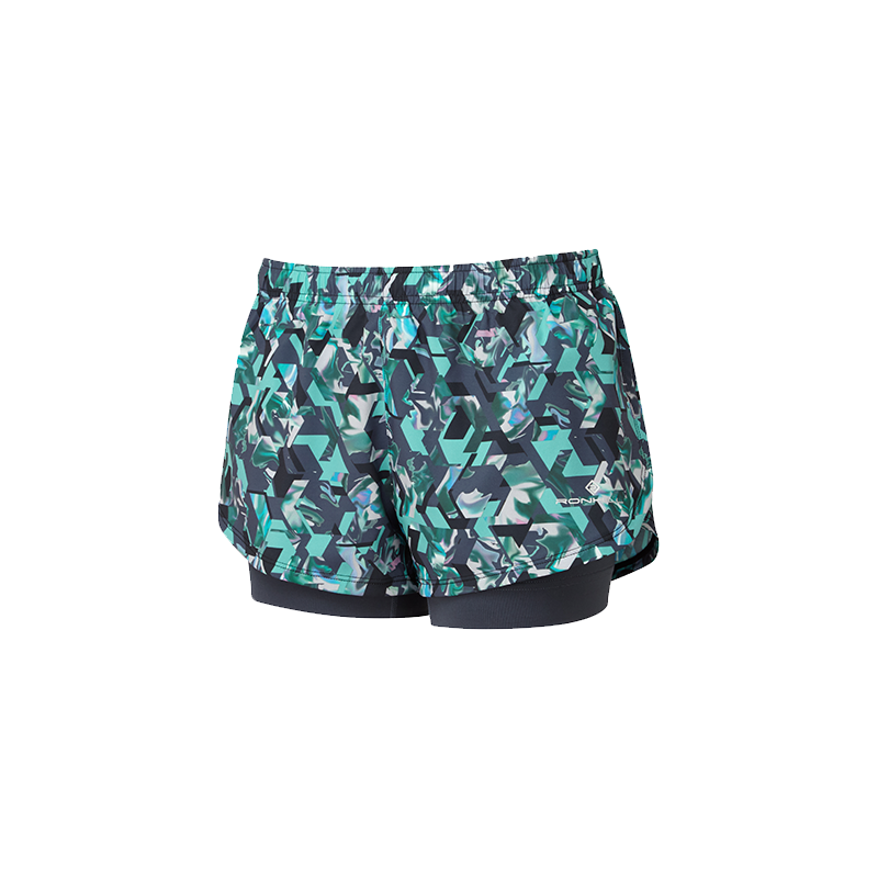 RONHILL Short TWIN MOMENTUM Femme | Peacock Hex | Collection Printemps-Été 2019